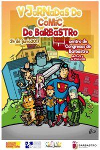 Cartel V Jornadas Comic Barbastro