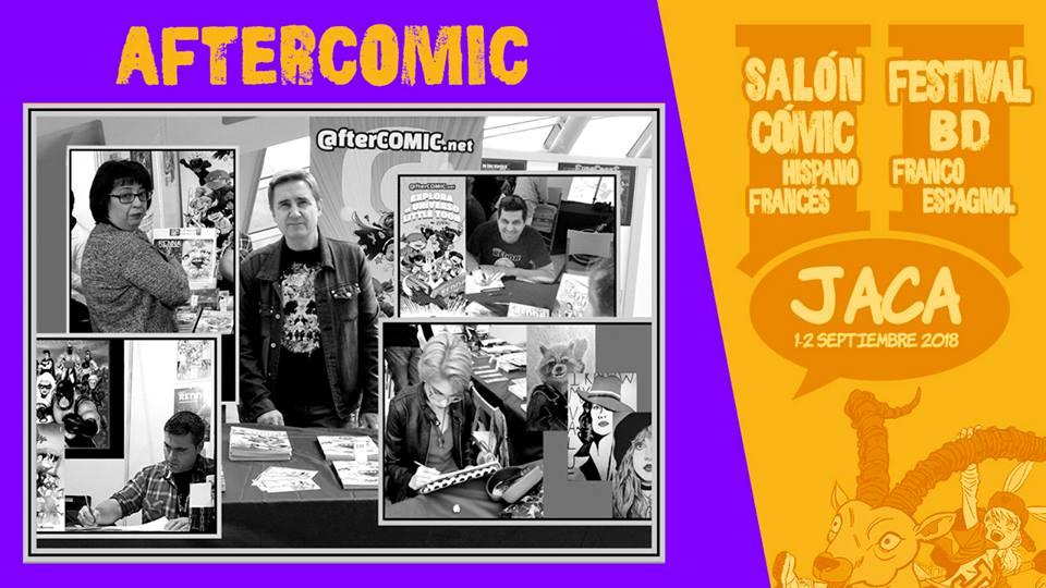 Staff de Aftercomic en el II Salón de Jaca